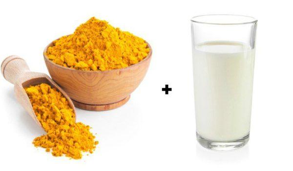 Bột nghệ + sữa ấm 1