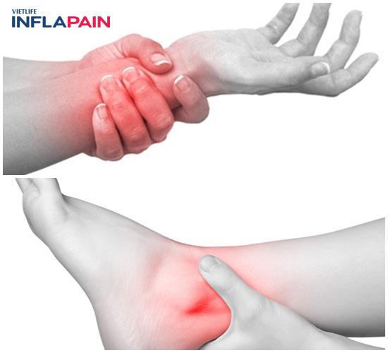 Việm bao hoạt dịch có thể chườm mát hoặc uống thuốc giảm đau