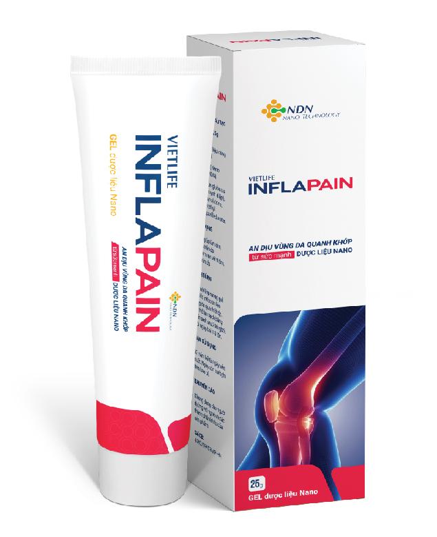 Gel Inflapain - Giảm nhanh đau do viêm khớp dạng thấp