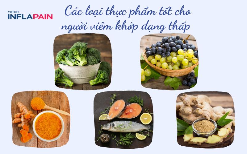 Những thực phẩm tốt cho người bị viêm khớp dạng thấp